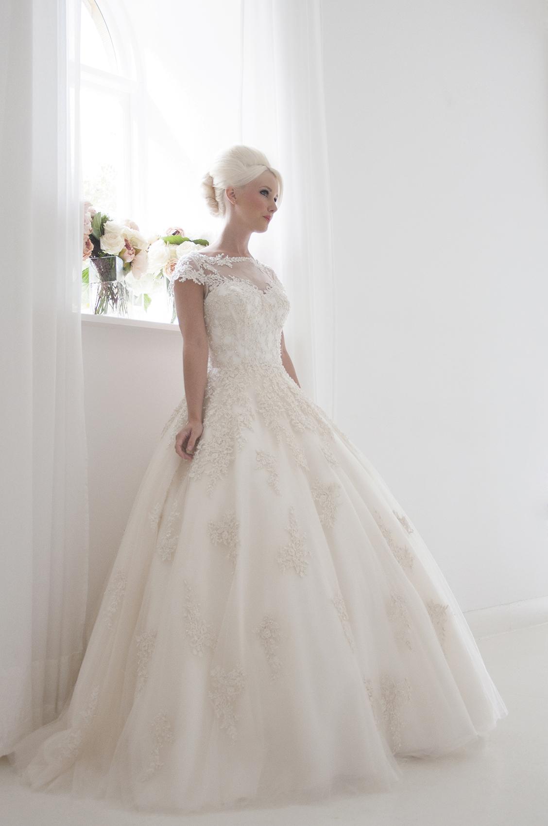 beaded ballgown wedding dress