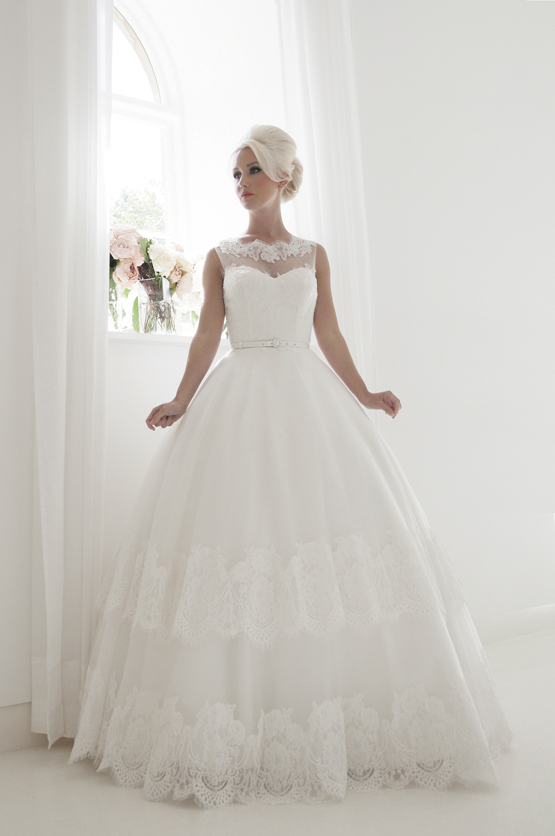 exquisite bridal gown
