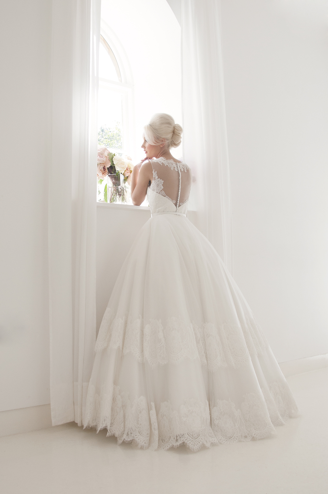 full length wedding ballgown
