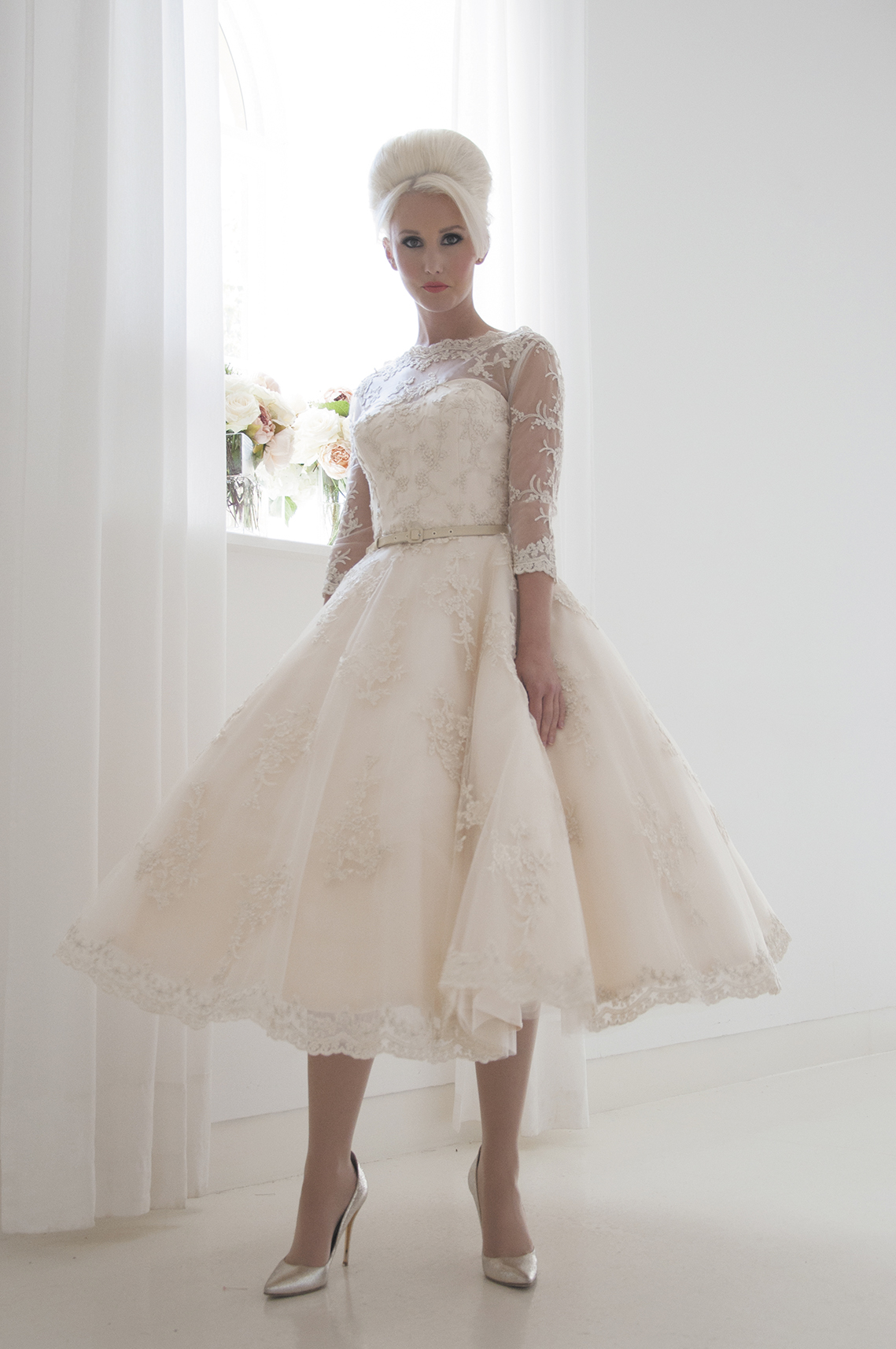 retro inspired bridal gown
