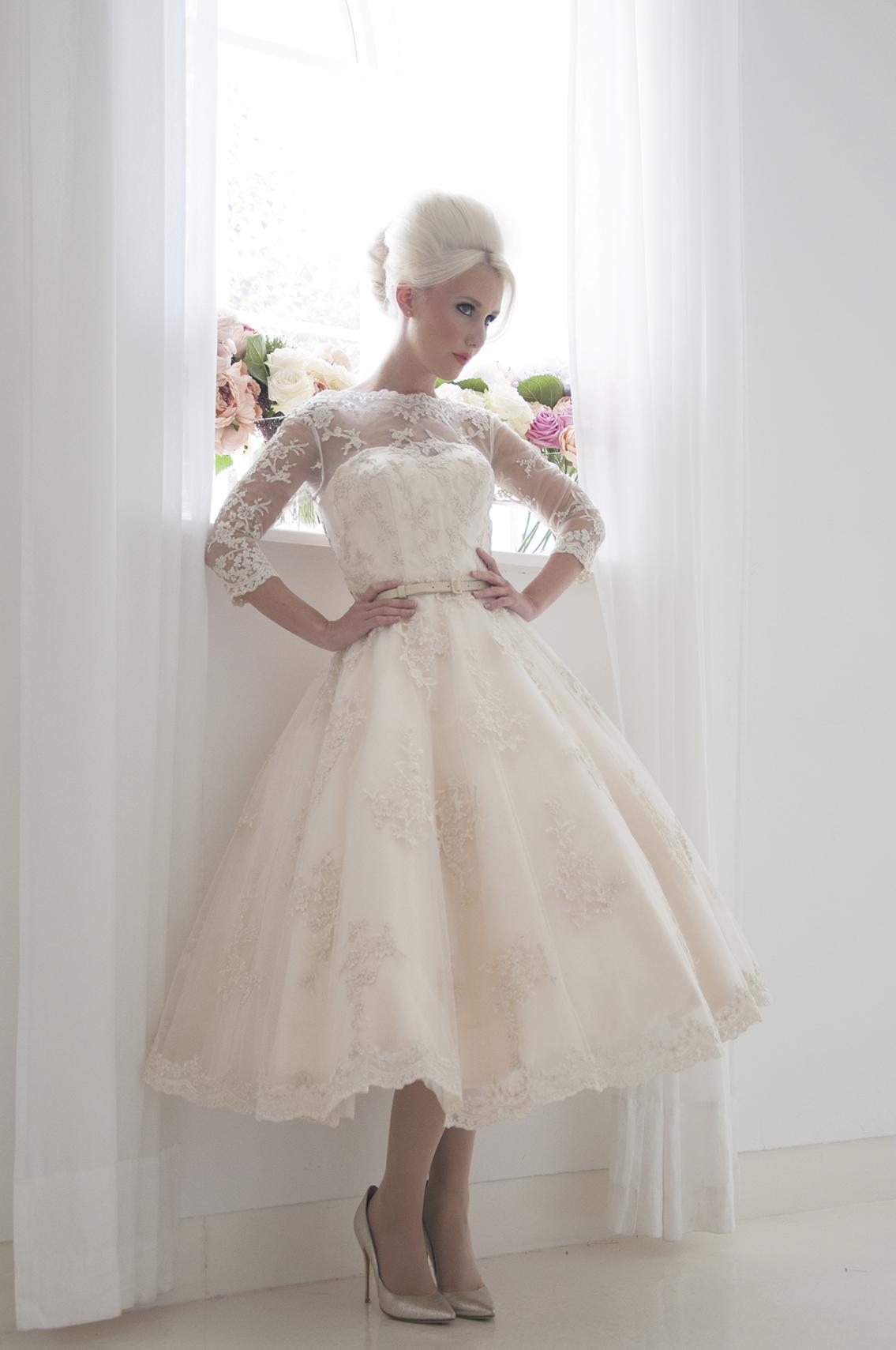 champagne tea dress