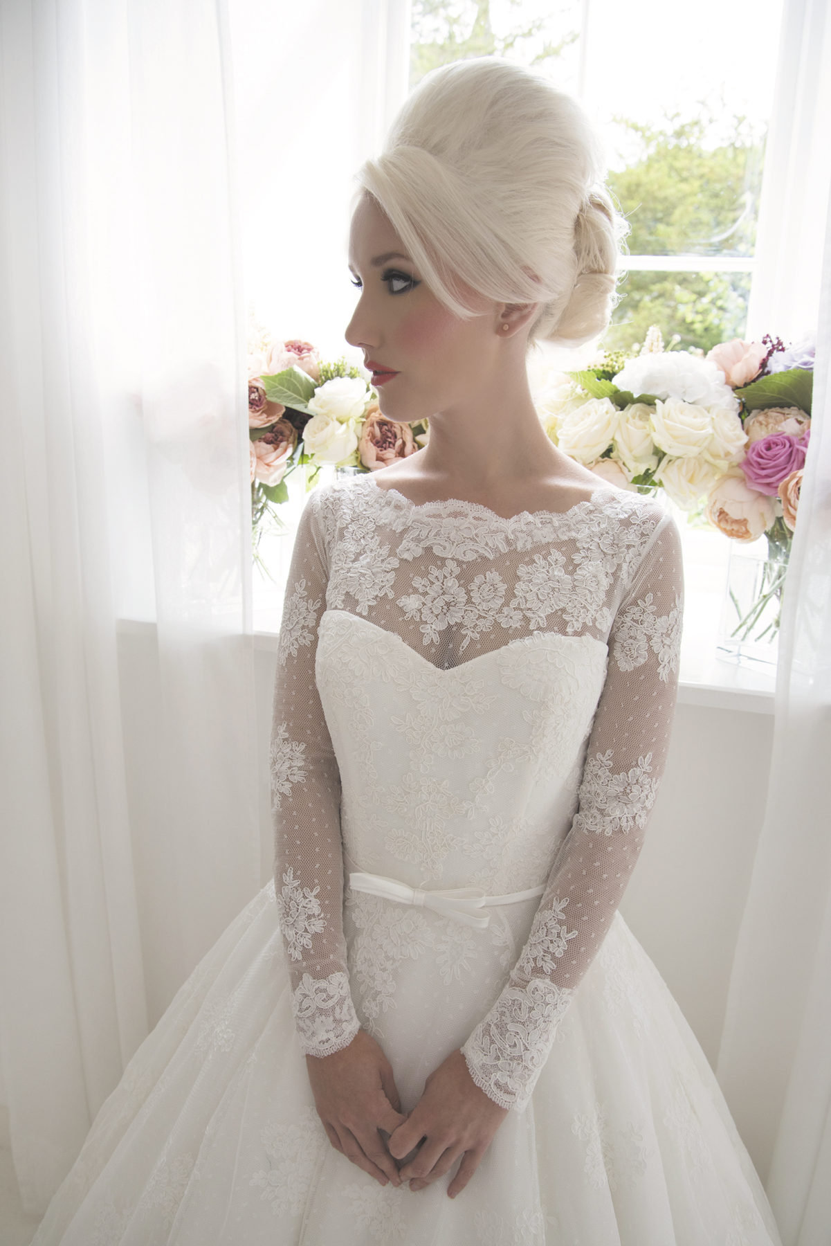 French Lace Bridal Gown