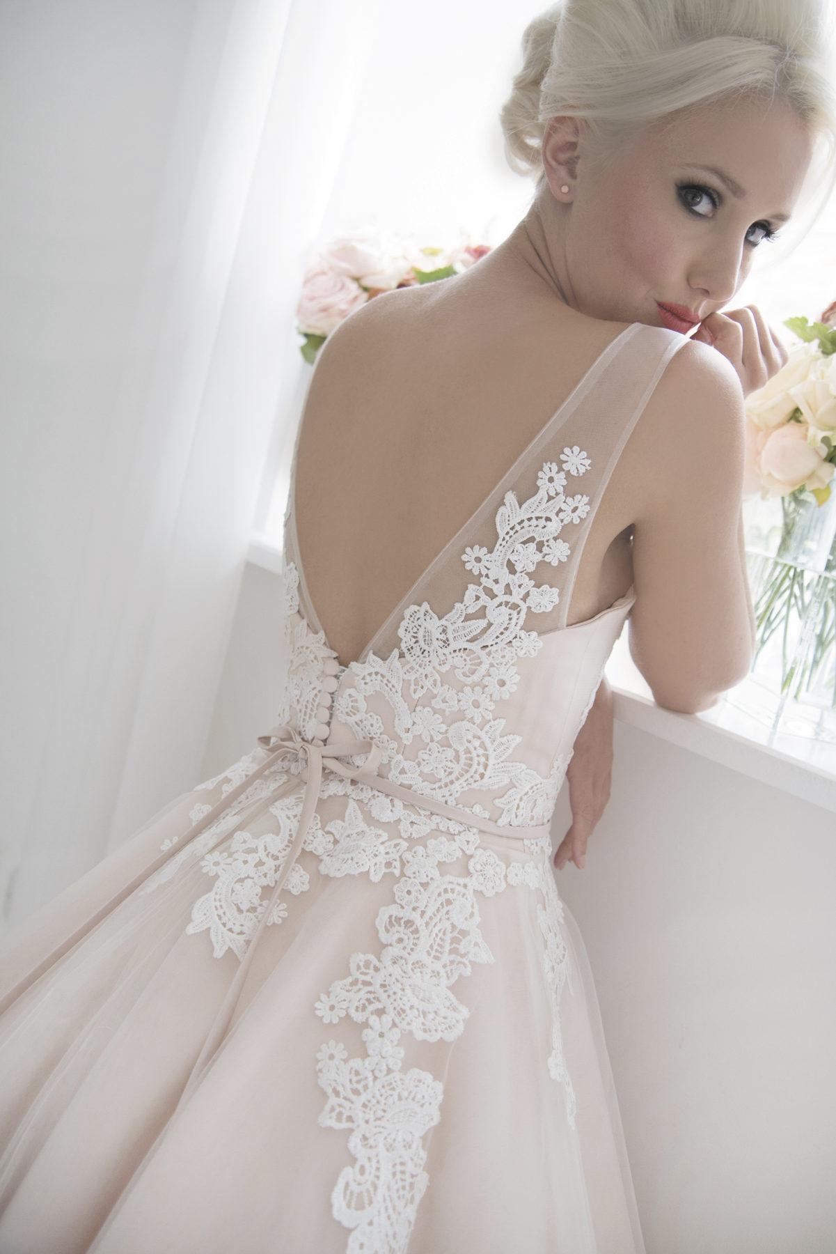 blush vintage ballerina wedding dress