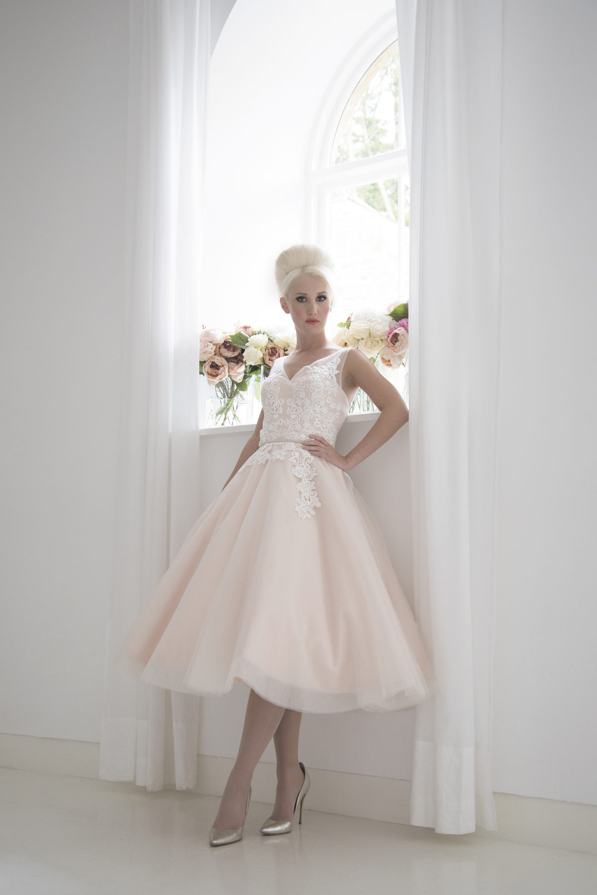 blush vintage ballerina length dress