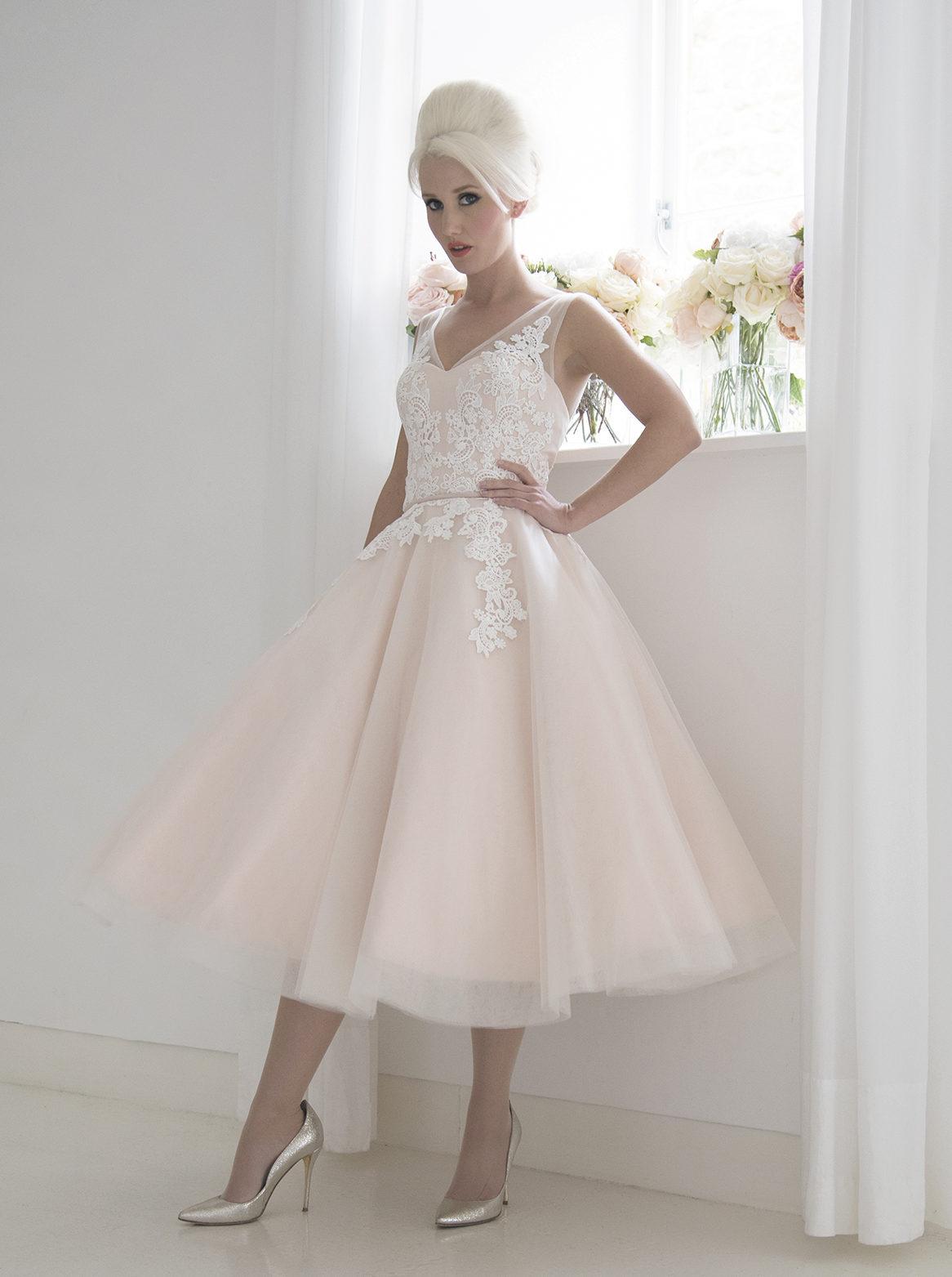 blush vintage bridal gown