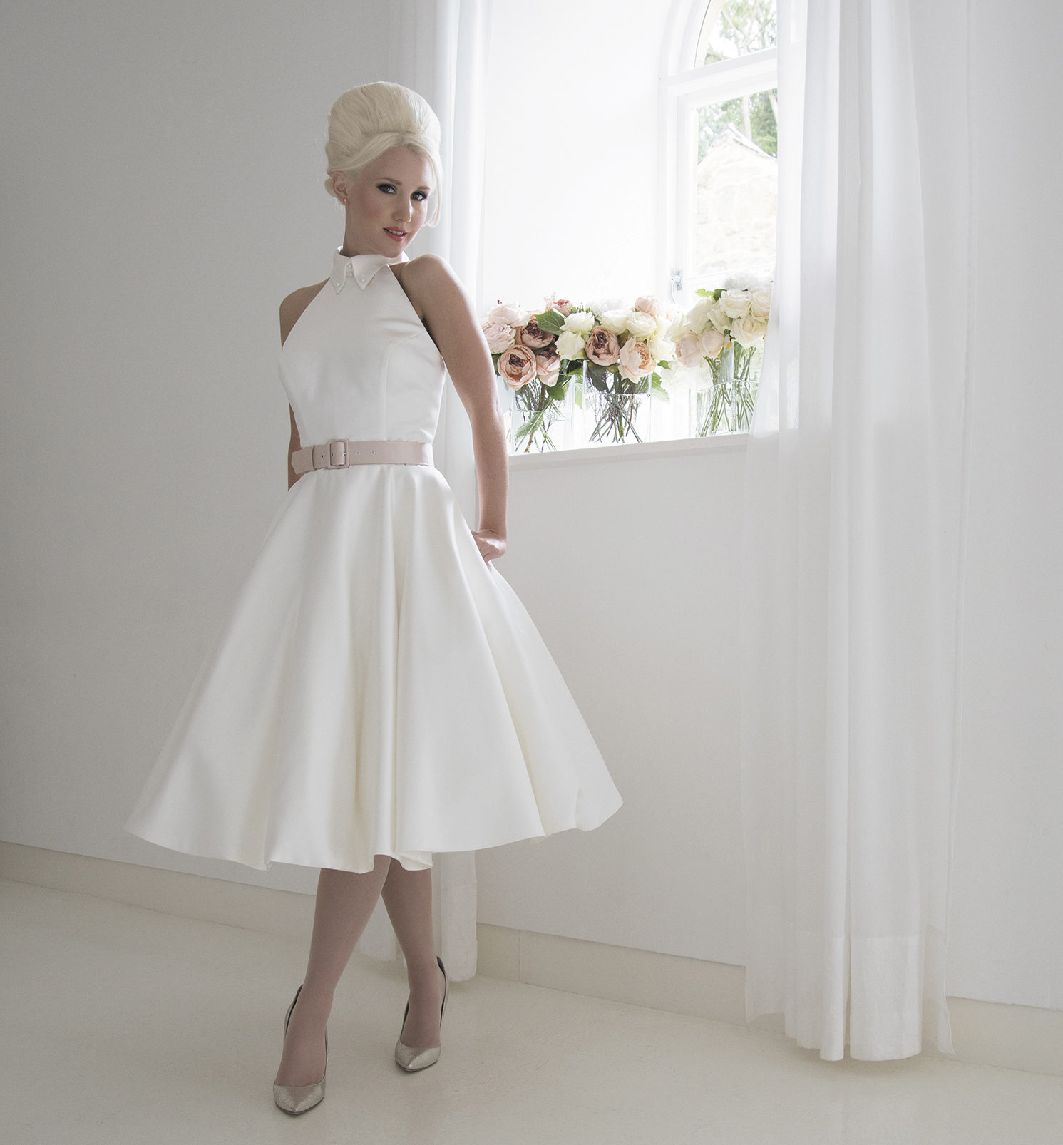 Contemporary Short Wedding Dress With Vintage Styling