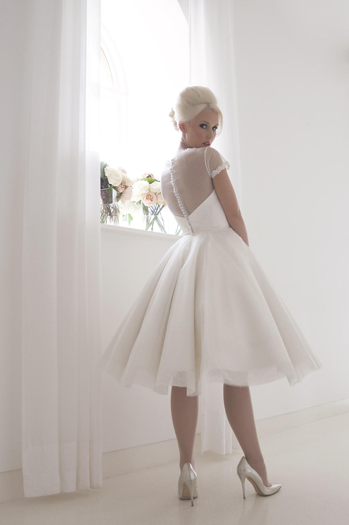 vintage spot tulle tea dress