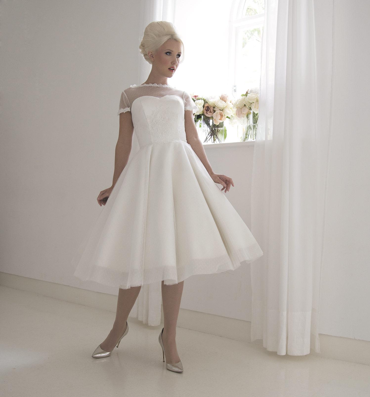 vintage tulle tea dress