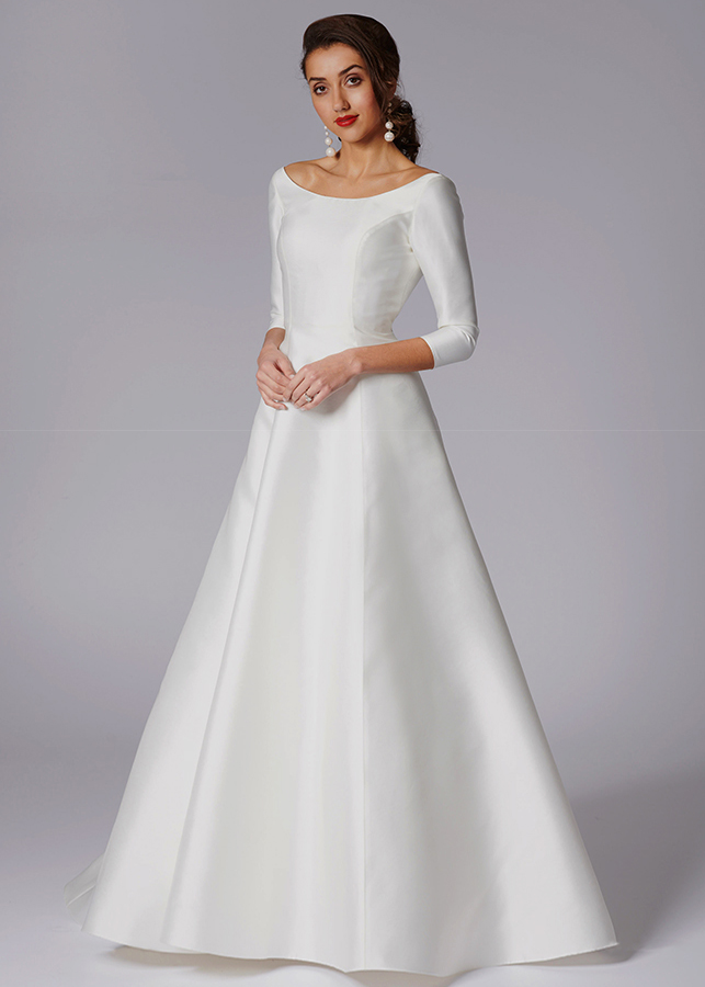 elegant and simple wedding dress
