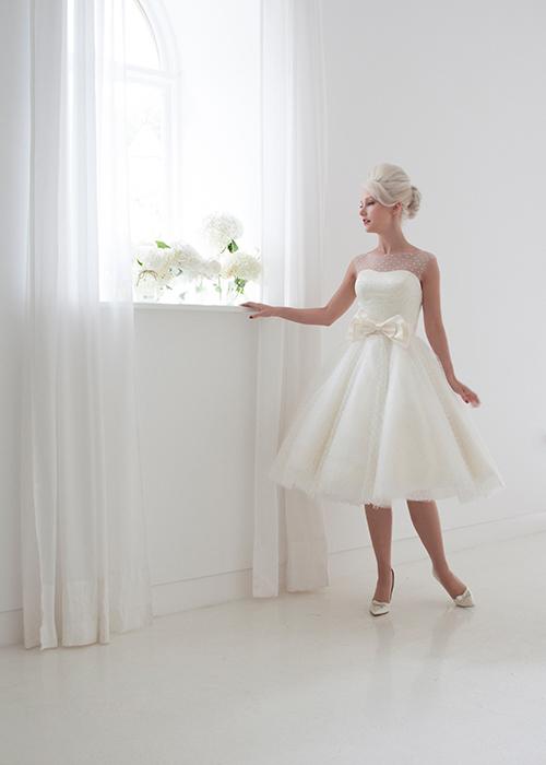 spot tulle sleeveless dress