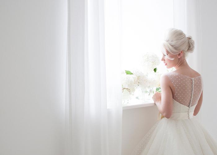 cute wedding dress rear view