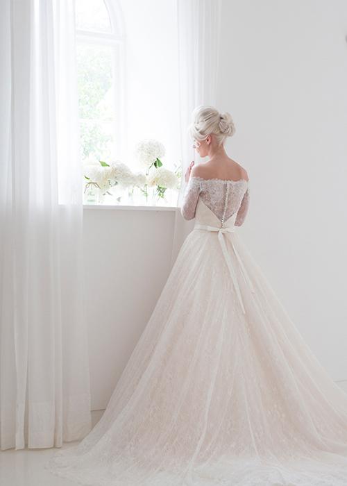 elegant bridal gown full view