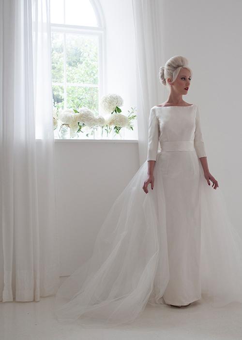 straight column wedding dress