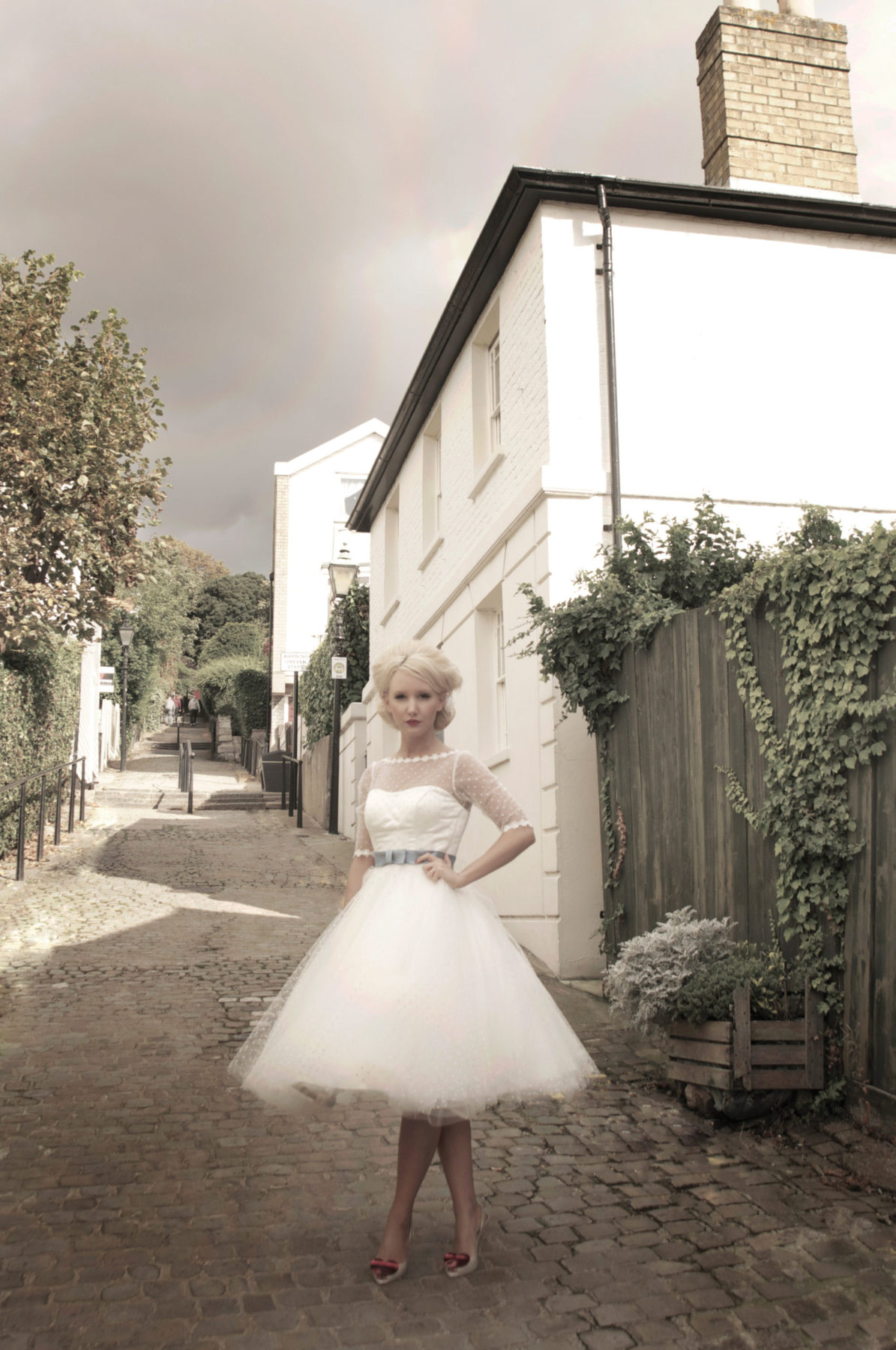 tulle wedding dress