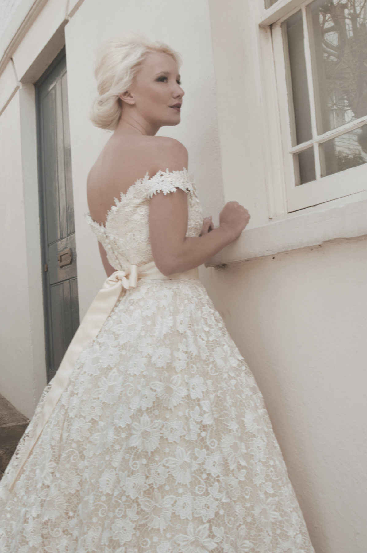 full lace bridal gown