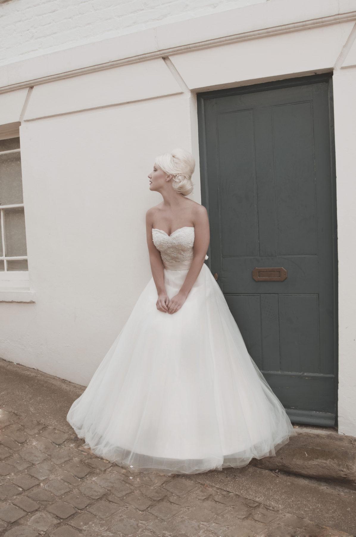 strapless Aline wedding dress