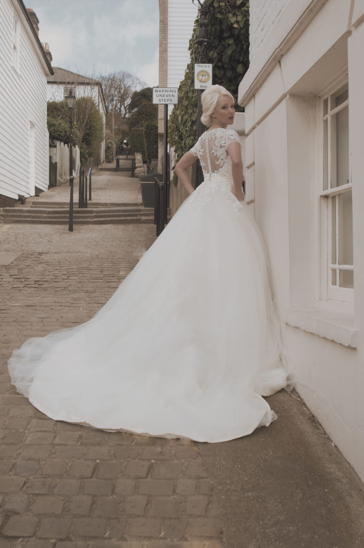 ballgown tulle wedding dress