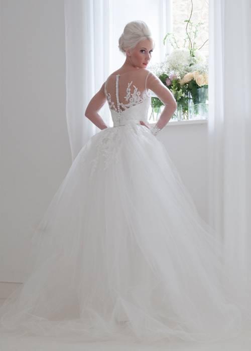 straight column bridal dress