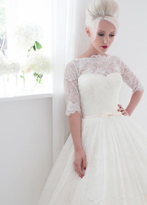 lace short tea dress