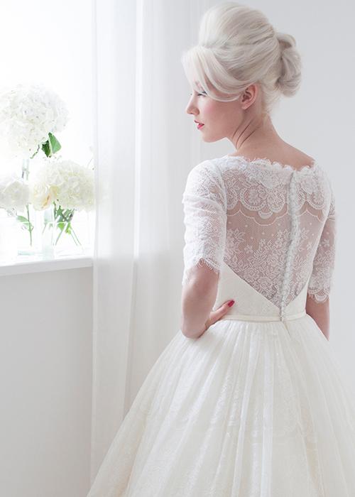 lace detailing short tea dress
