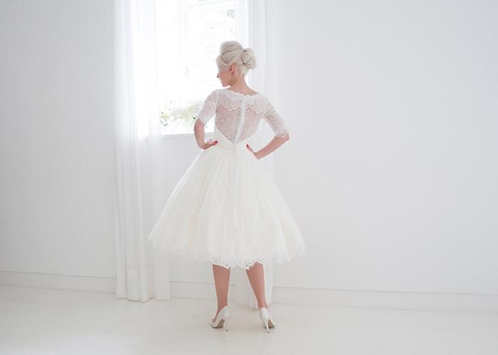 elegant wedding dress rear view