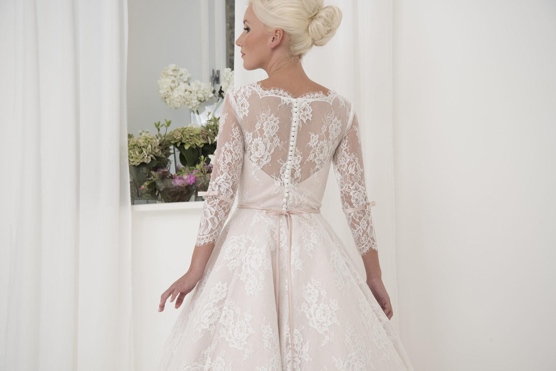 exquisite wedding gown detailing