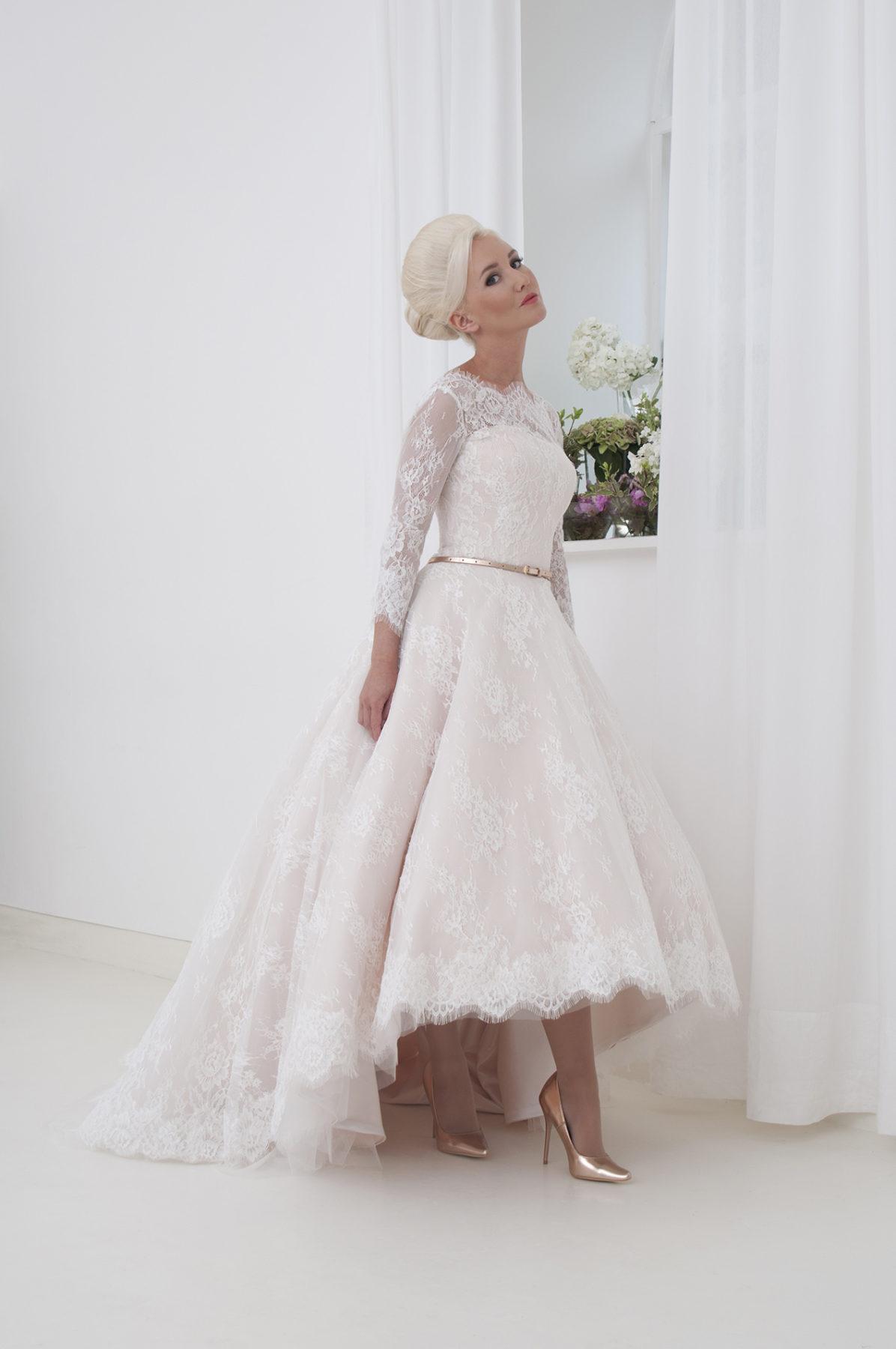 hi-low wedding dress