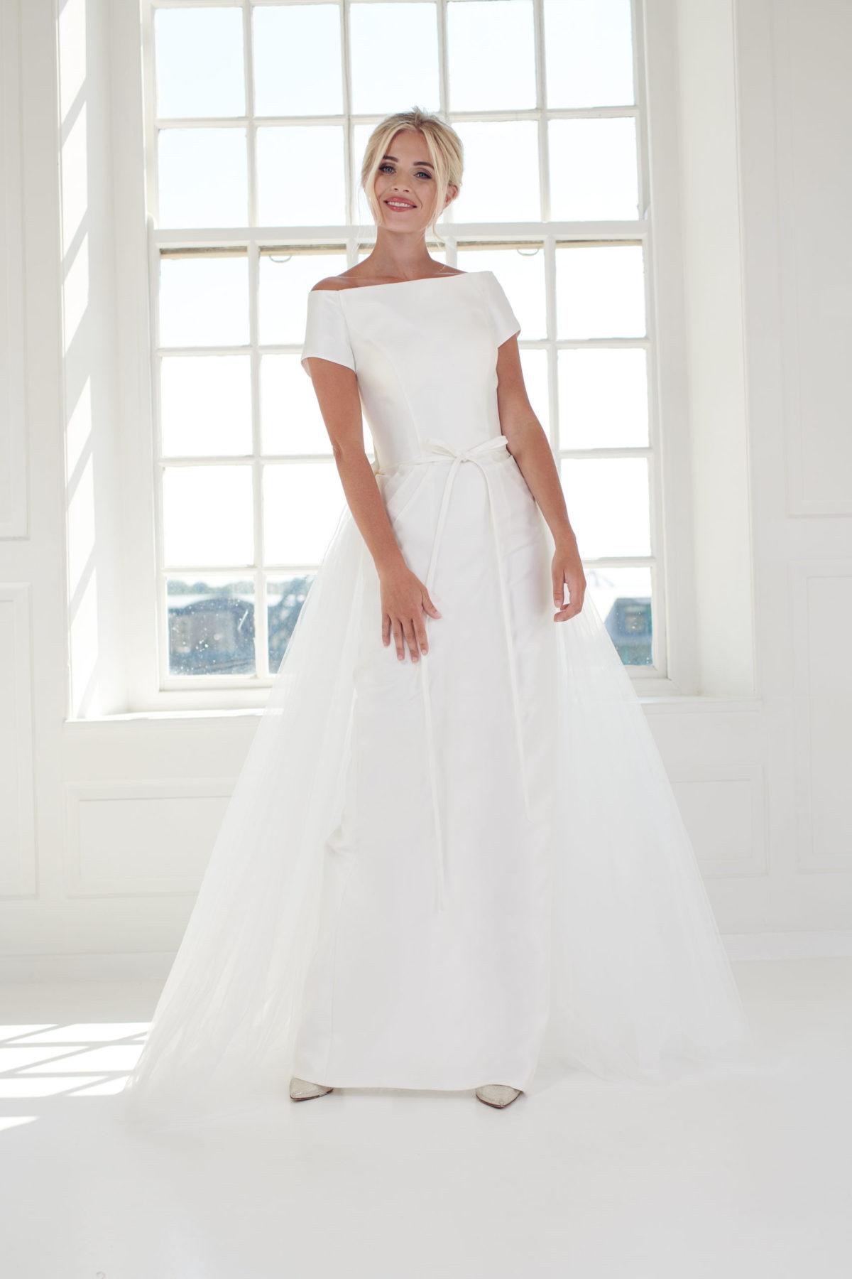 Pencil straight column wedding dress