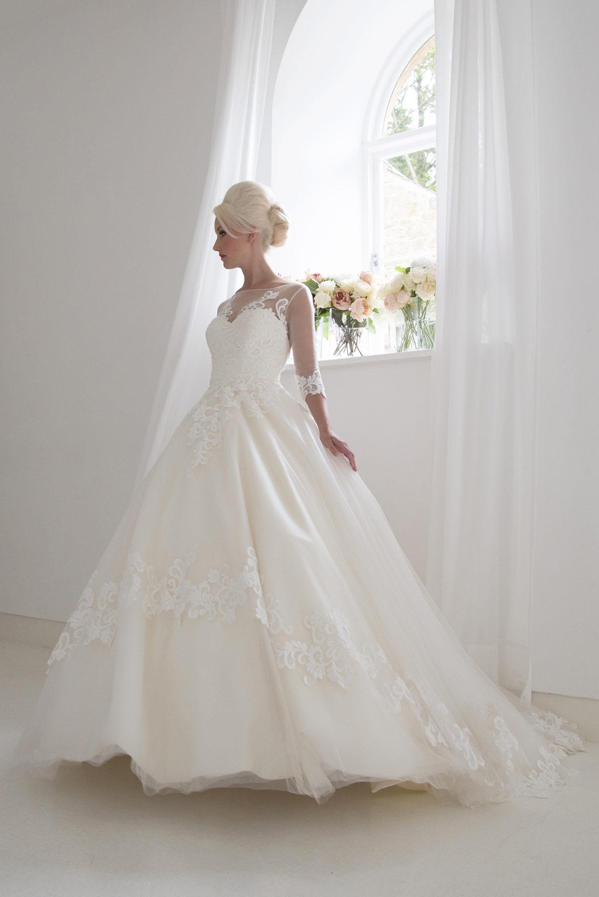 full length wedding gown
