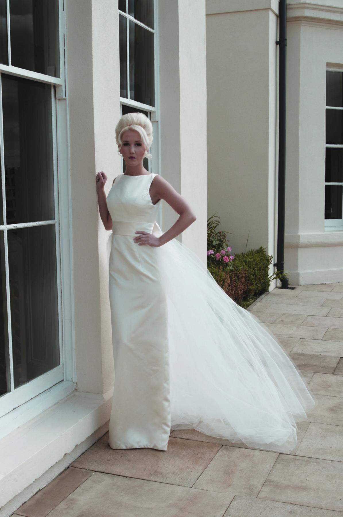 full length straight wedding dress